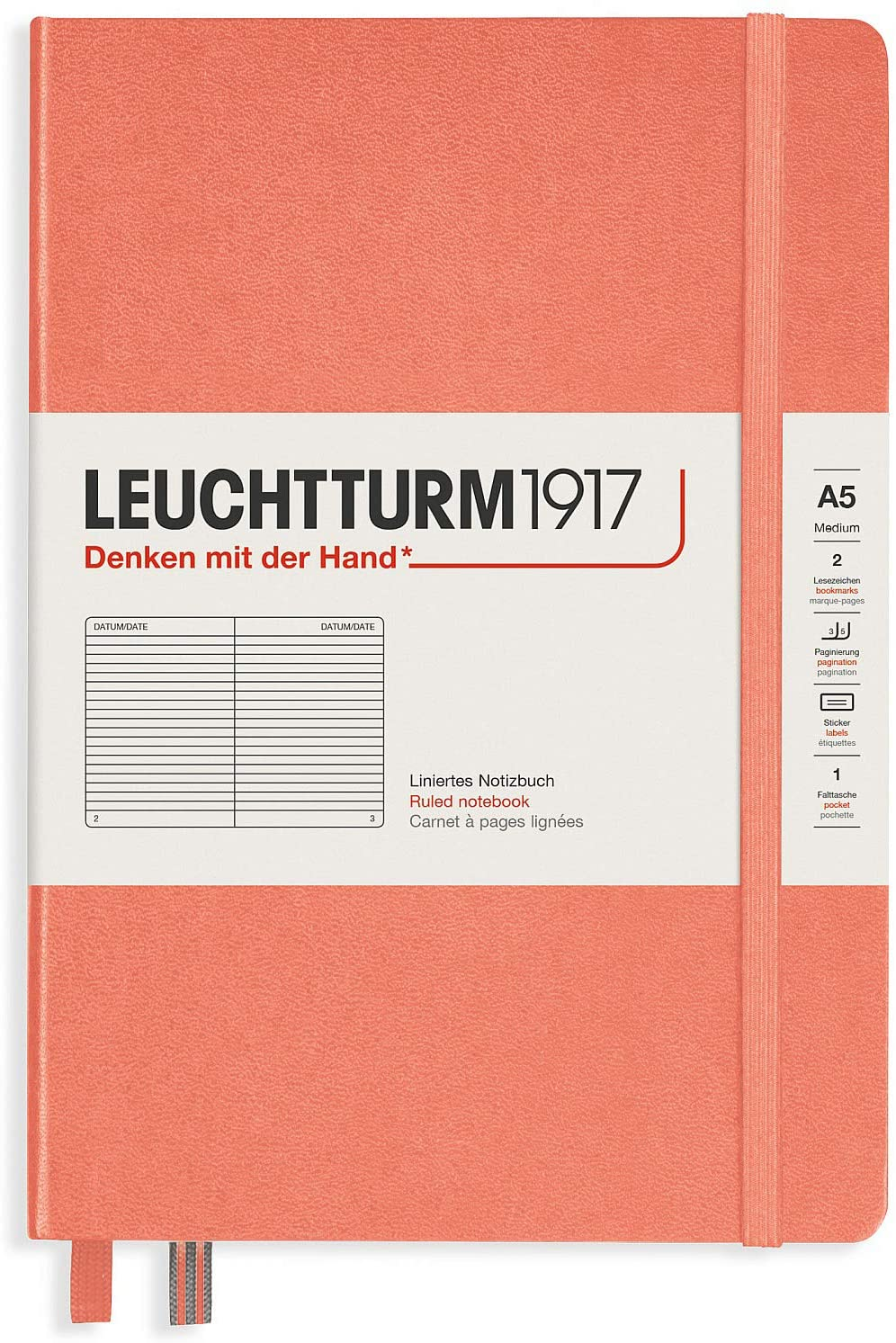Leuchtturm1917 Special Edition Muted Colors Hardcover A5 Medium Lined Notebook - Bellini
