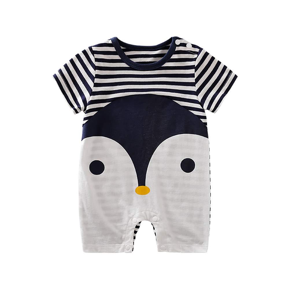 IURNXB Baby Newborn Girl Boy Lovely Cartoon Penguin Print Bodysuit Outfits Baby Clothes