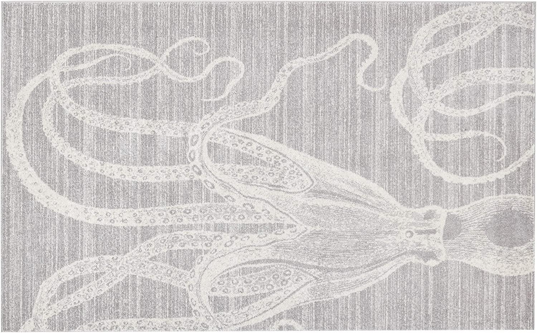 nuLOOM Thomas Paul Octopus Area Rug, 5' x 8', Grey