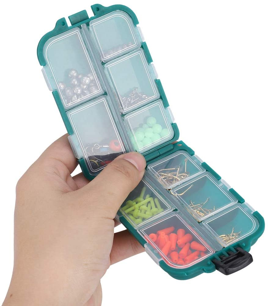 Zer one 157 PCS Fishing Accessories Kit, Including Jig Hooks, Different Fishing Swivels Snaps, Fishing Line Beads, Fishing Set with Tackle Box