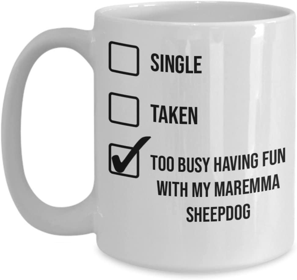 Maremma Sheepdog Mug - White 11oz 15oz Ceramic Tea Coffee Cup - Perfect For Travel And Gifts