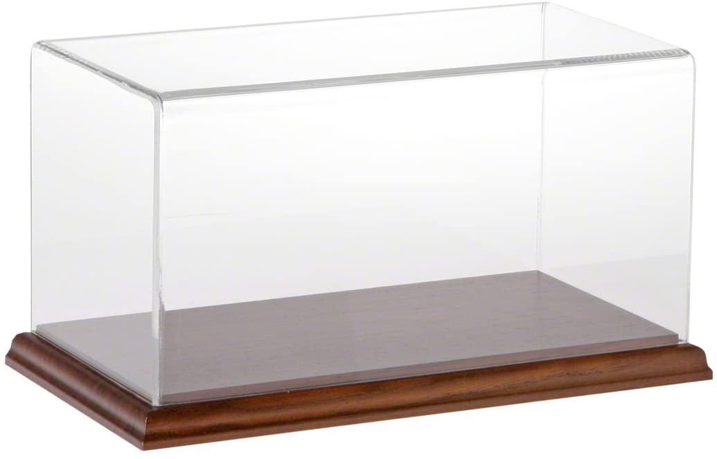 Plymor Clear Acrylic Display Case with Hardwood Base, 10