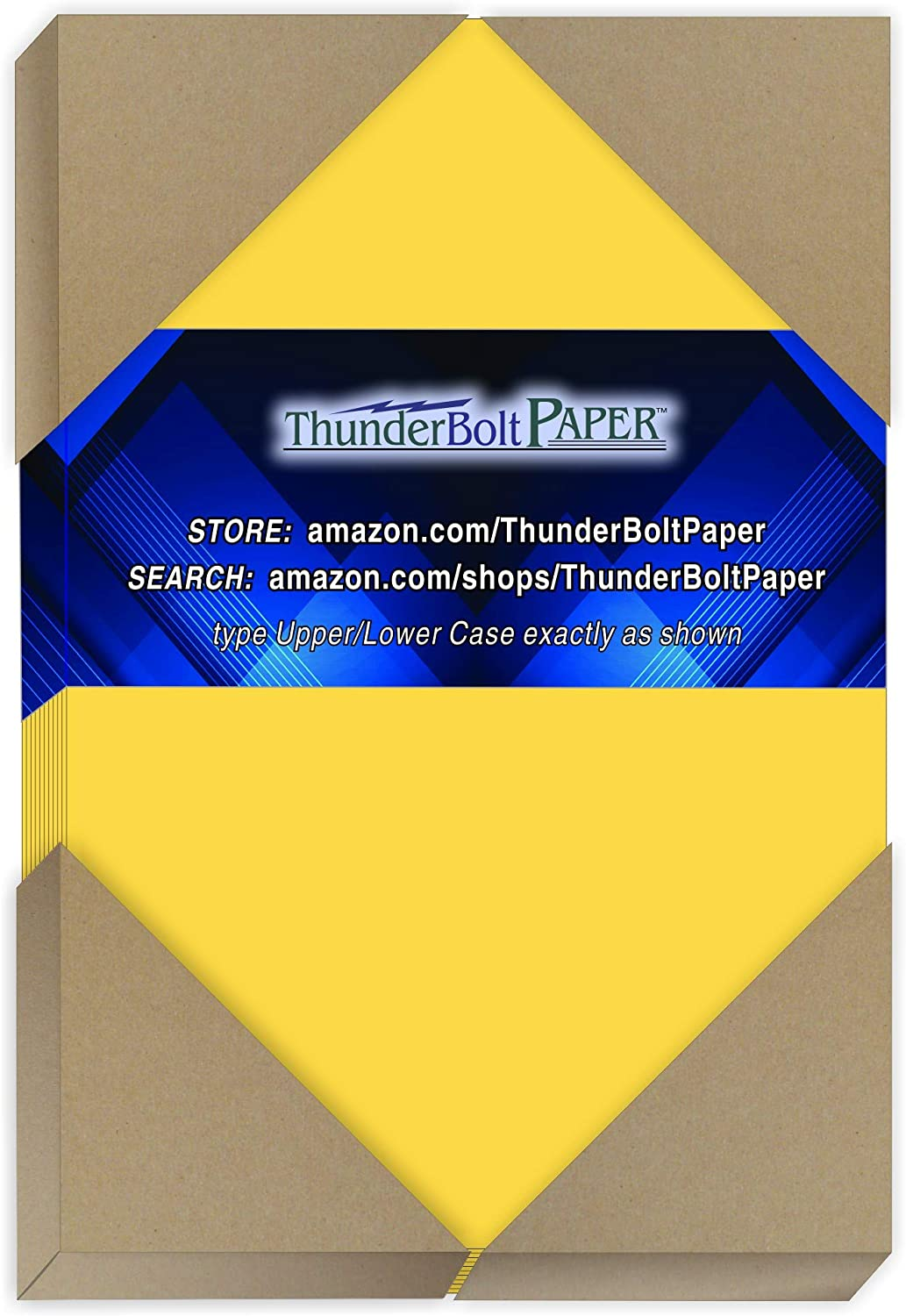 150 Bright Golden Yellow 65lb Cover|Card Paper - 4