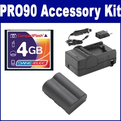 Canon Powershot Pro90 IS Digital Camera Accessory Kit includes: T44655 Memory Card, SDM-116 Charger, SDBP511 Battery