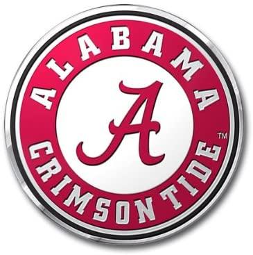 Alabama Crimson Tide Color Auto Emblem - Die Cut