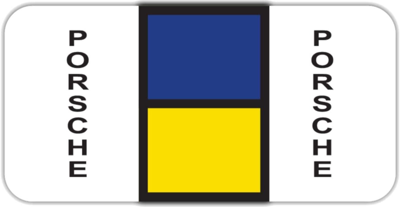 Bar Tab Labels 270 Color Coded Bar-Style Labels for File Folder End Tabs (Porsche)