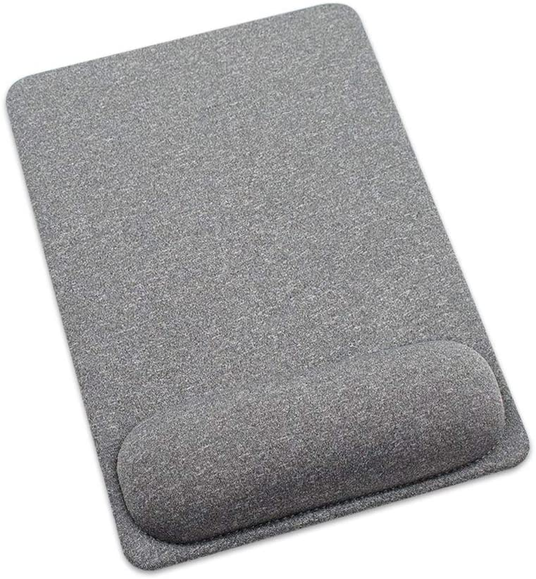 SenseAGE Enlarge Mouse Pad with Wrist Support, Ergonomic Mouse Mat with Non-Slip Base for Home, Office & Travel, Comfortable, Lightweight for Easy Typing and Pain Relief, Grey