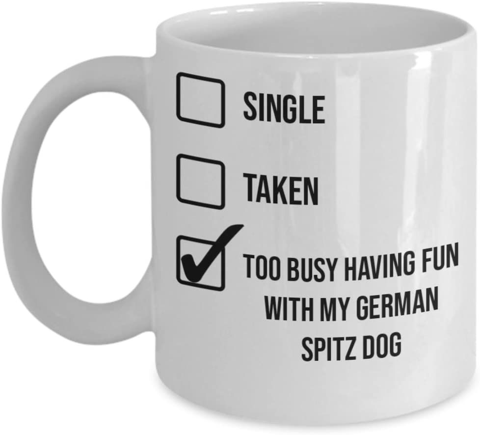 German Spitz Dog Mug - White 11oz 15oz Ceramic Tea Coffee Cup - Perfect For Travel And Gifts