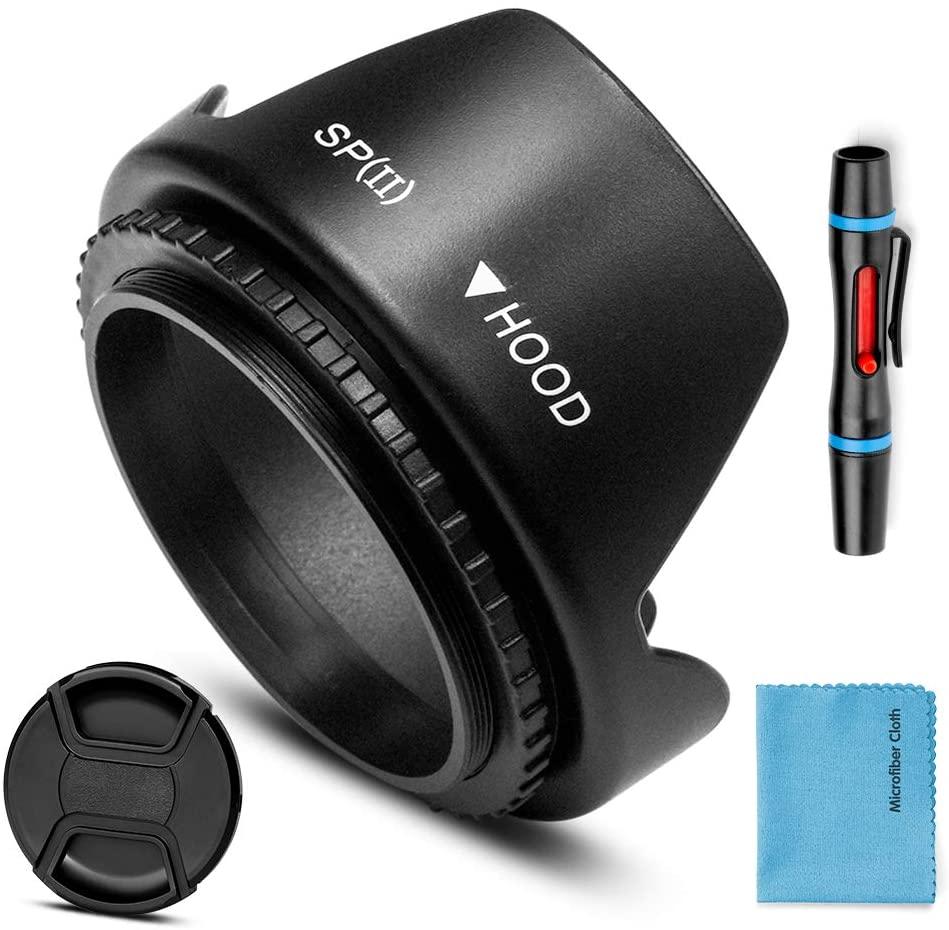 82mm Lens Hood,Universal Tulip Flower Lens Hood Sun Shade with Centre Pinch Lens Cap for Canon Nikon Sony Pentax Olympus Fuji Camera