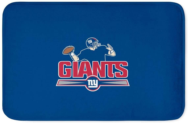 Giants Door Mat with Team Logo,Giants Bath Mat Non Slip Absorbent Super Cozy Bathroom Rug Carpet,17