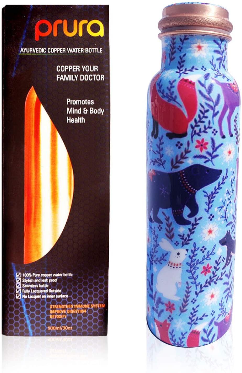PRURA Copper Water Bottle A Leak Proof Ayurvedic Pure Copper Vessel
