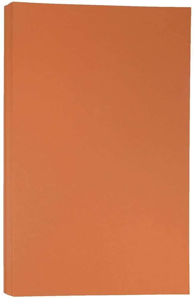 JAM PAPER Legal Matte 28lb Paper - 8.5 x 14 - Dark Orange - 50 Sheets/Pack