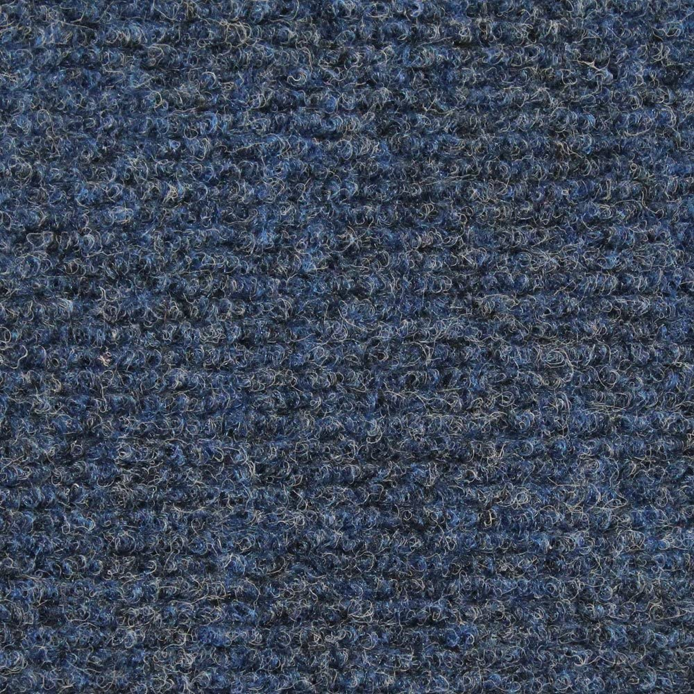 House, Home and More Indoor Outdoor Carpet with Rubber Marine Backing - Blue - 6 Feet x 20 Feet