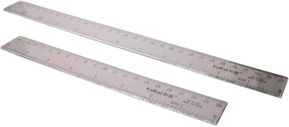 Utoolmart Plastic Clear Straight Strong Hard Ruler Math Flexible Rulers Measuring Tool set for Student School Office 1pcs
