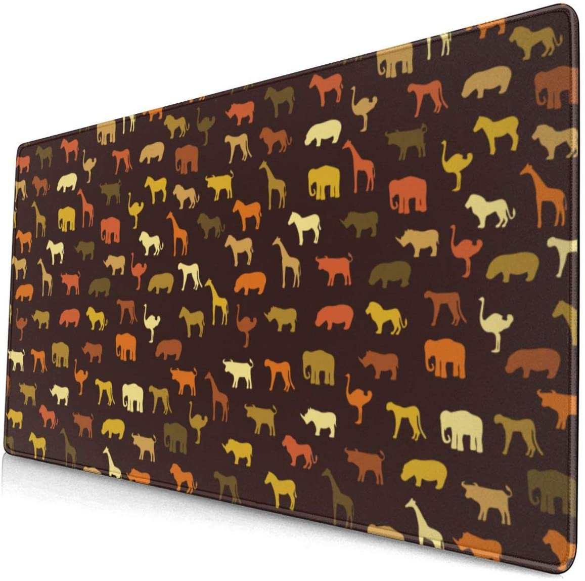 Large Size Mouse pad Anti-Slip Desk Mouse Mat Desk Protector Mat (Wildlife Animal World)