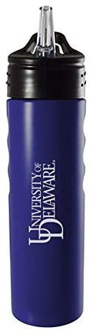LXG, Inc. University of Delaware-24oz. Stainless Steel Grip Water Bottle with Straw-Blue