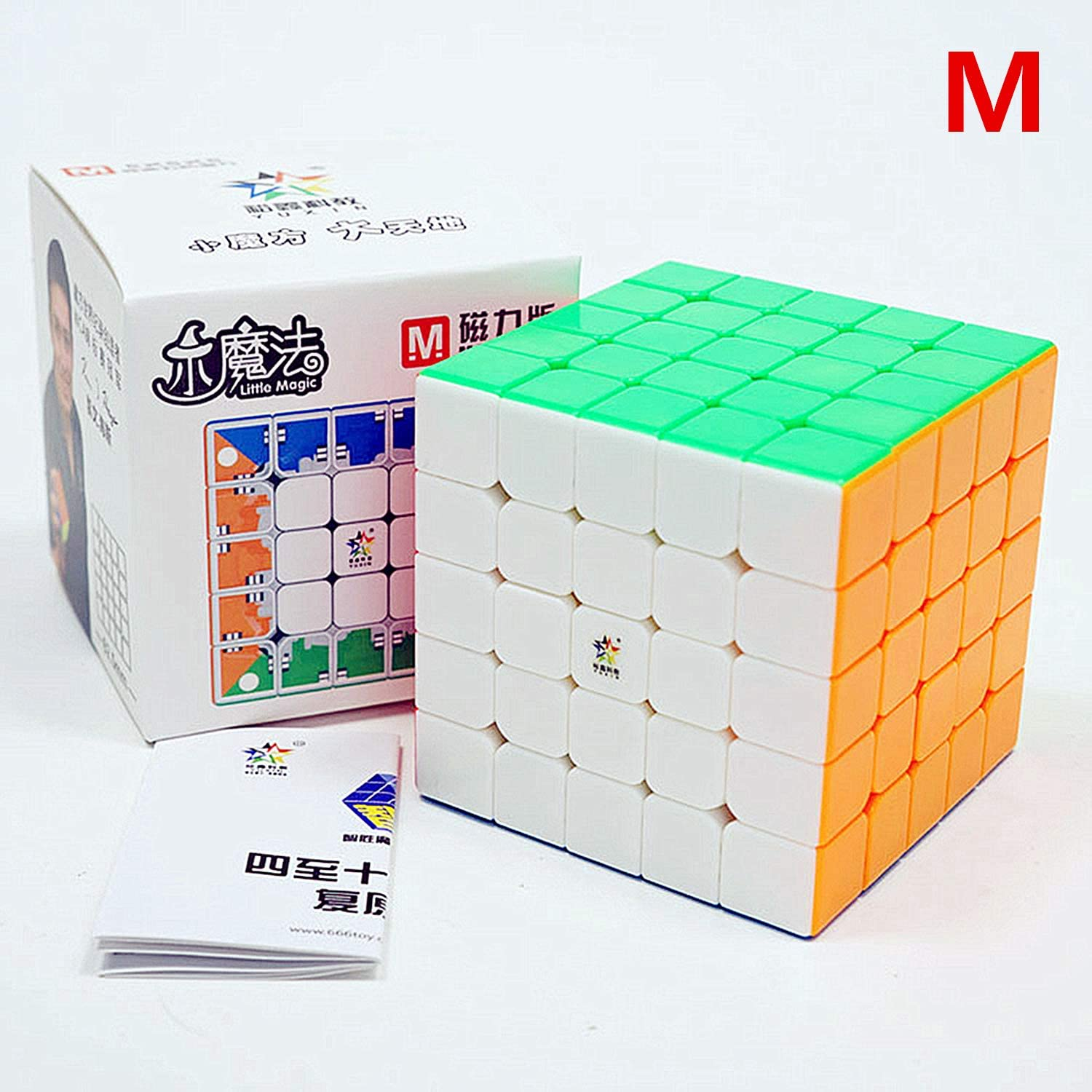LiangCuber YuXin Little Magic 5x5 M Stickerless Speed Cube Yuxin Zhisheng Little Magic 5x5x5 Magnetic Cube Puzzle