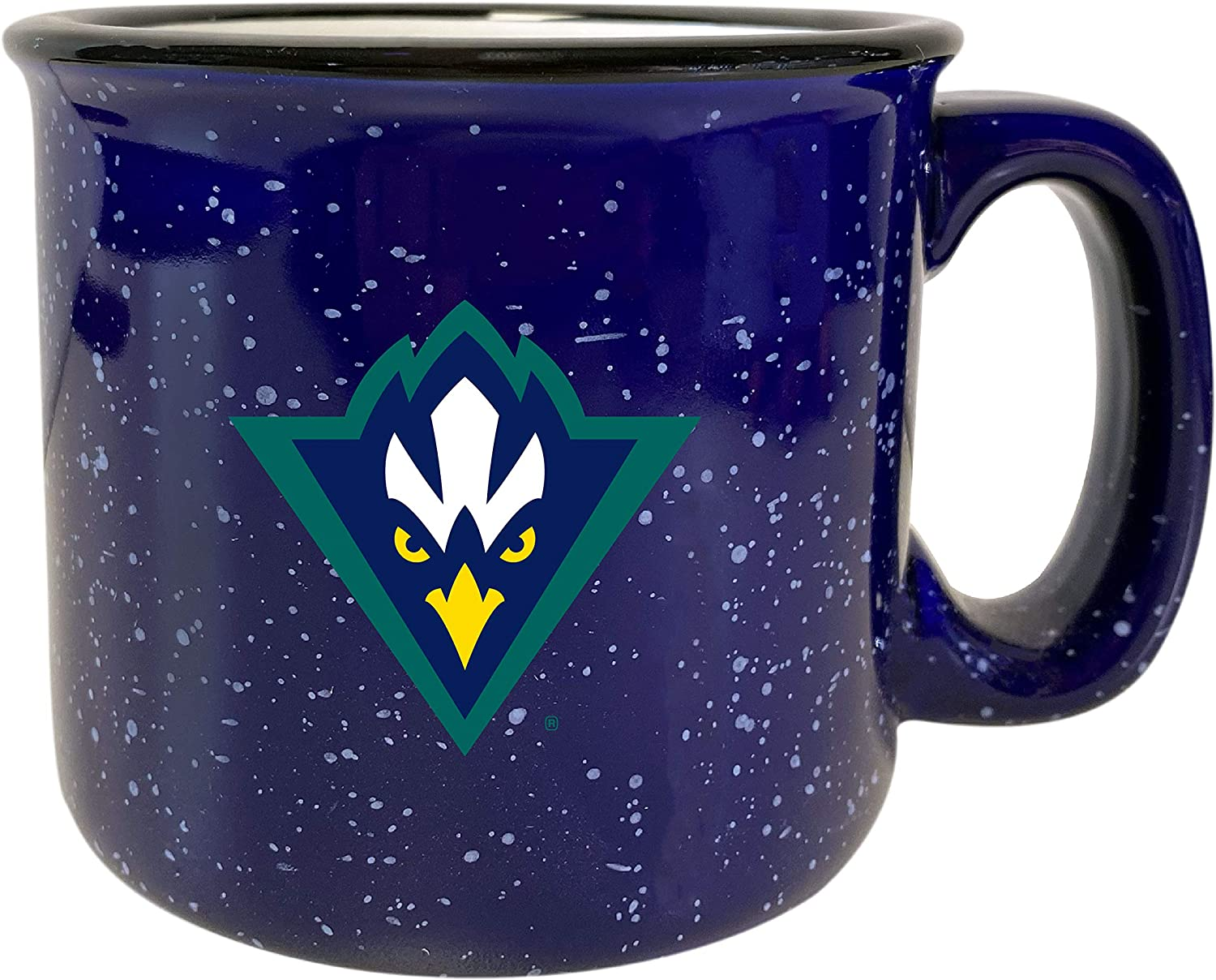 North Carolina Wilmington Seahawks Speckled Ceramic Camper Coffee Mug Navy