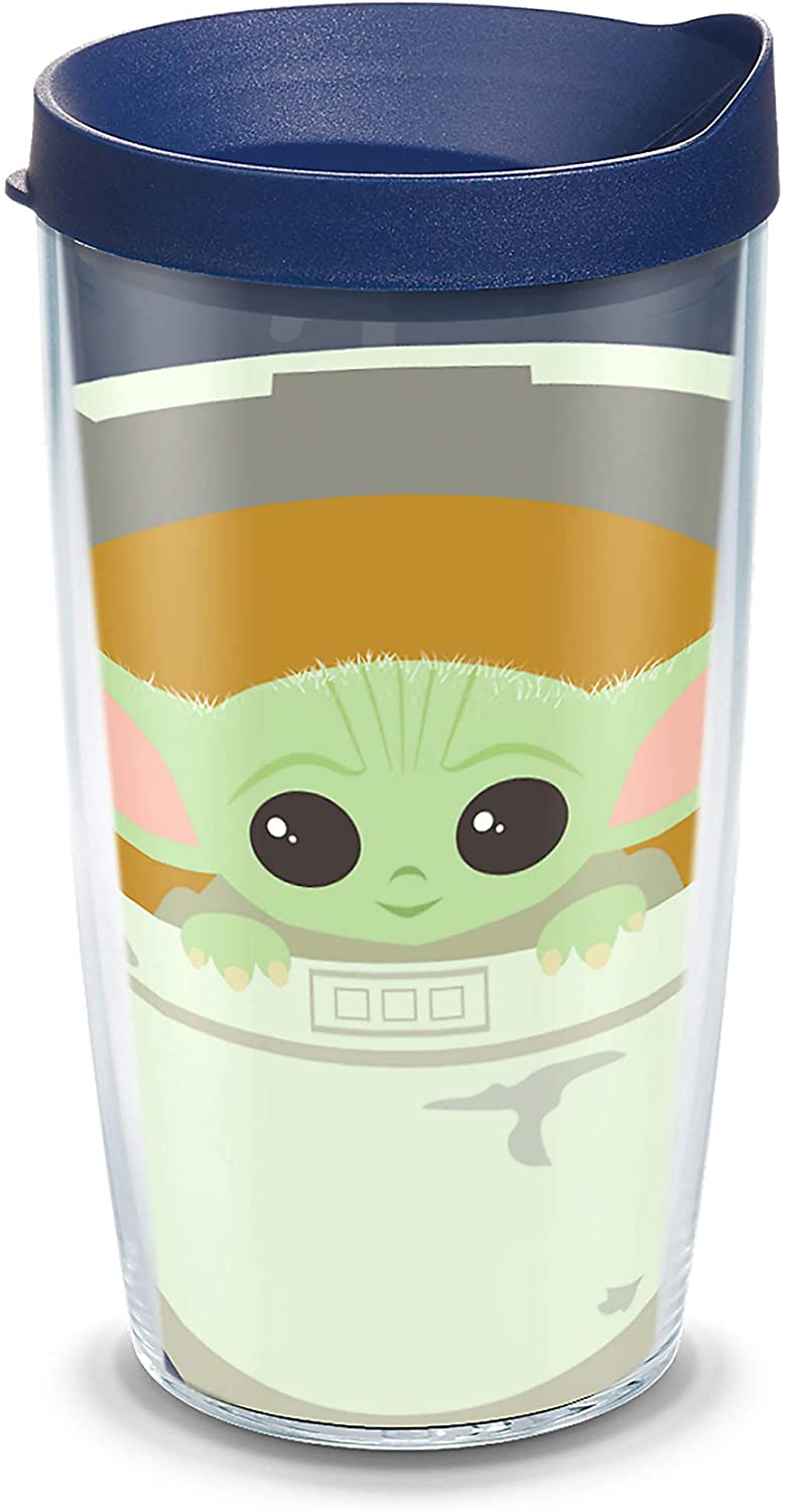 Tervis Star Wars Mandalorian - Child in Carrier Insulated Tumbler, 16oz, Clear - Tritan