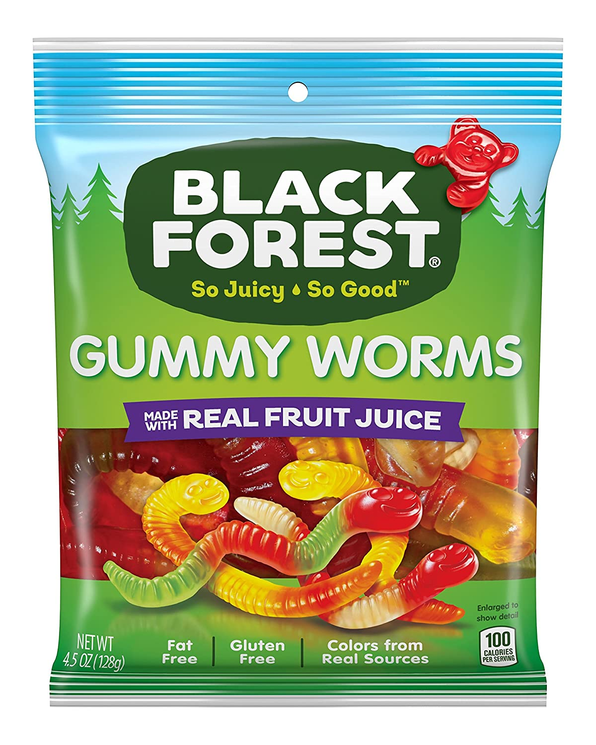 Black Forest Gummy Worms, 4.5 Ounce Bag, Pack of 12