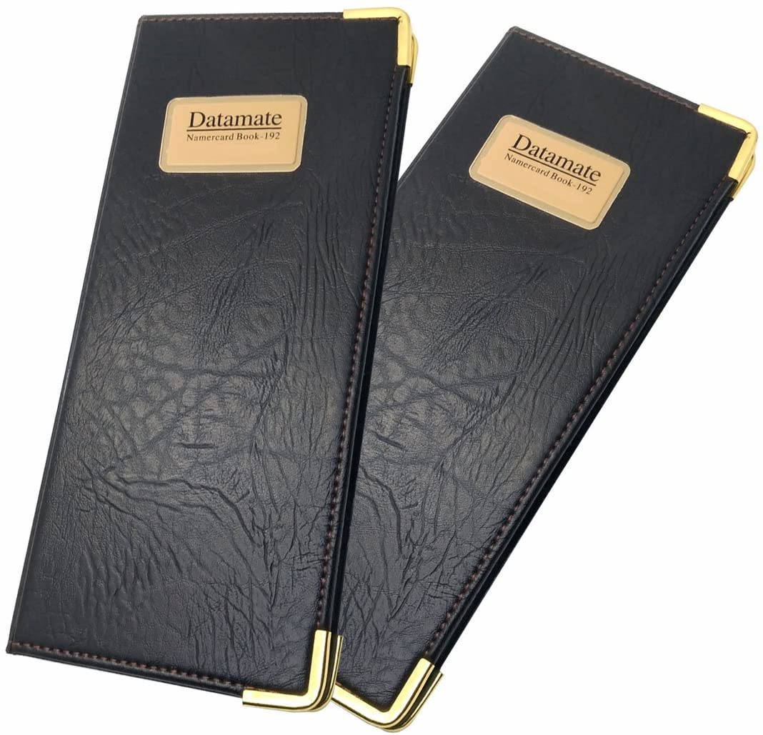 Business Card Organizer, Card Holder for 192 Cards, 2 Pack (Wallet Style)