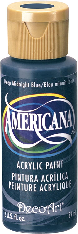 DecoArt Americana Acrylic Paint, 2-Ounce, Deep Midnight Blue