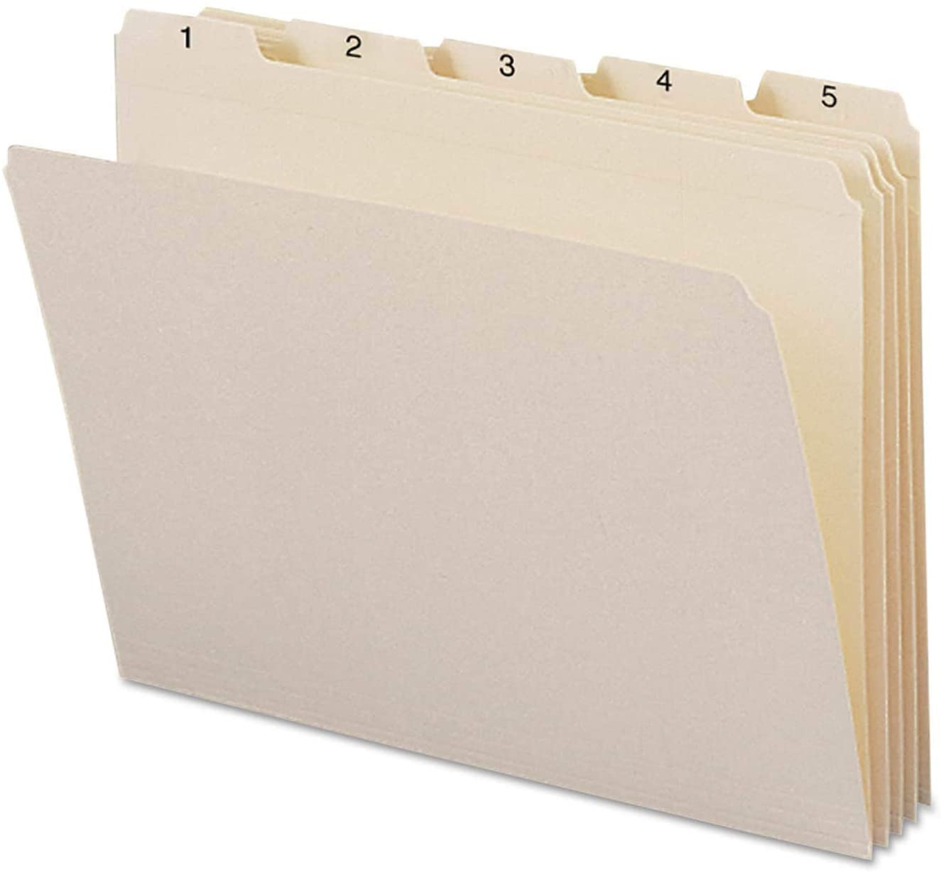 Indexed File Folders 1/5 Cut 1-31 Top Tab Letter 31/Set
