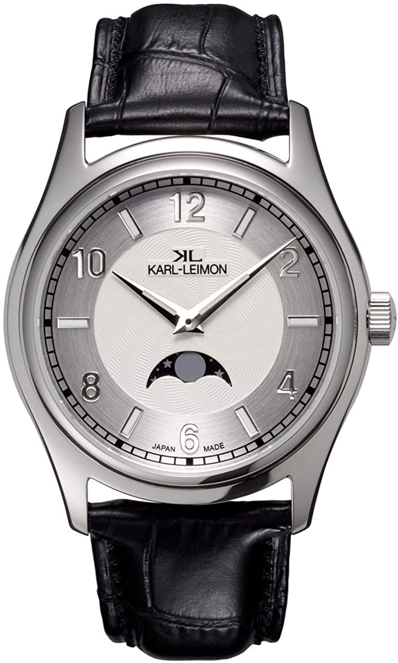 KARL-LEIMON Japanese Moonphase Watch Classic Simplicity White