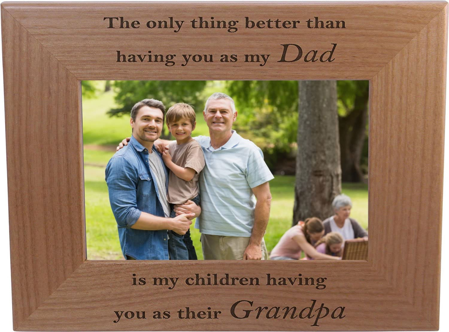 Only thing better than having you as my husband is our children having you as their dad - 4x6 Wood Picture Frame - Great Gift for Fathers Day Birthday, Christmas Gift for Dad Husband