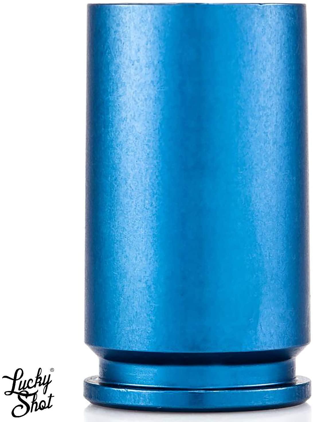 Lucky Shot USA 30 MM A-10 Shot Glass | Warthog Shell Casing | Made in America | 2.7 oz Blue