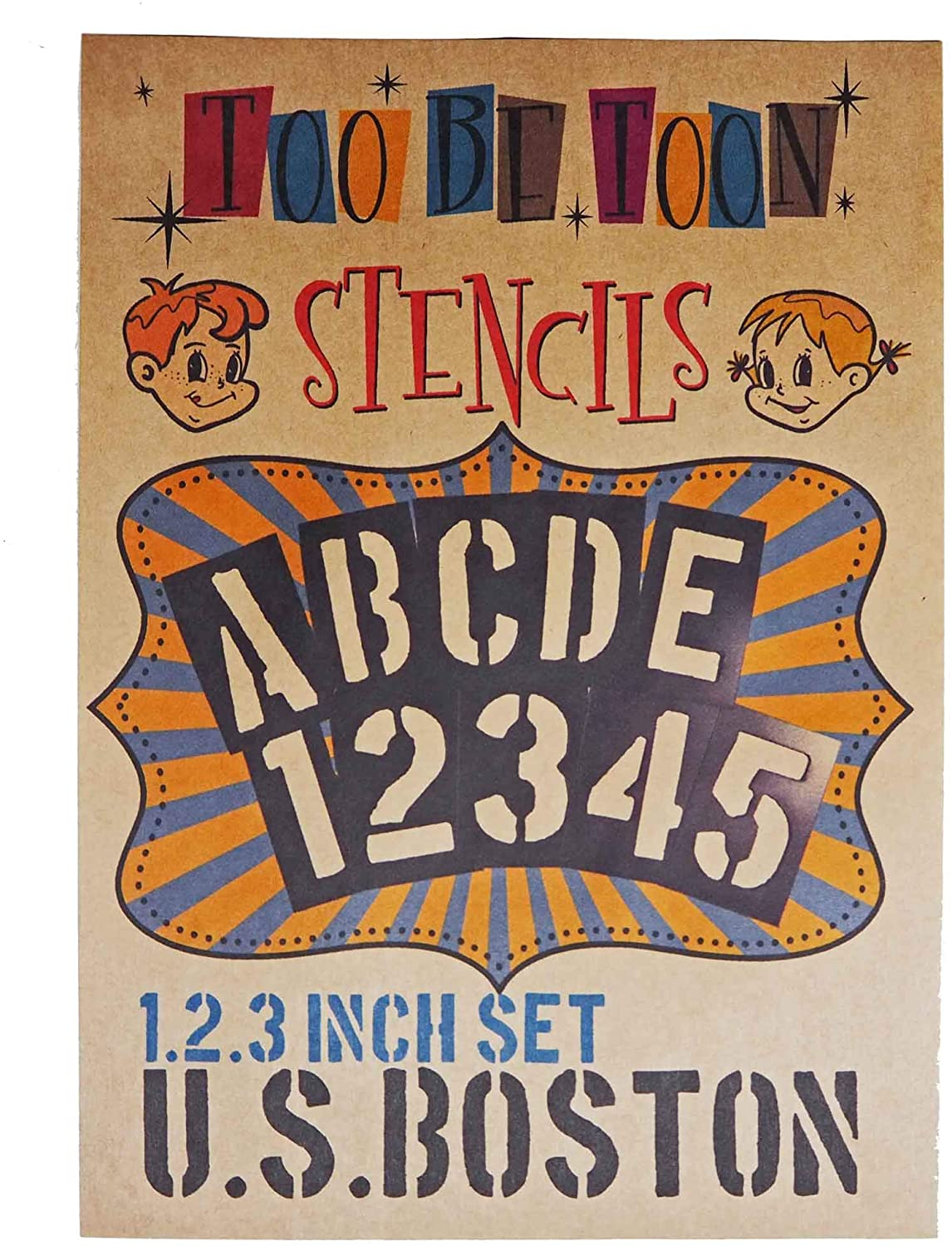 1.2.3 inch Stencil Set, Plastic Letter and Number, 240PC (U.S.Boston)