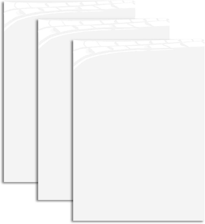"MiPremium PU Heat Transfer Vinyl HTV, White Iron On Vinyl 12"" x 10"" inches 3 Sheets, for T Shirts Sports Clothing Other Garments & Fabrics, Easy to Cut Apply & Press White Vinyl (3 x White)"