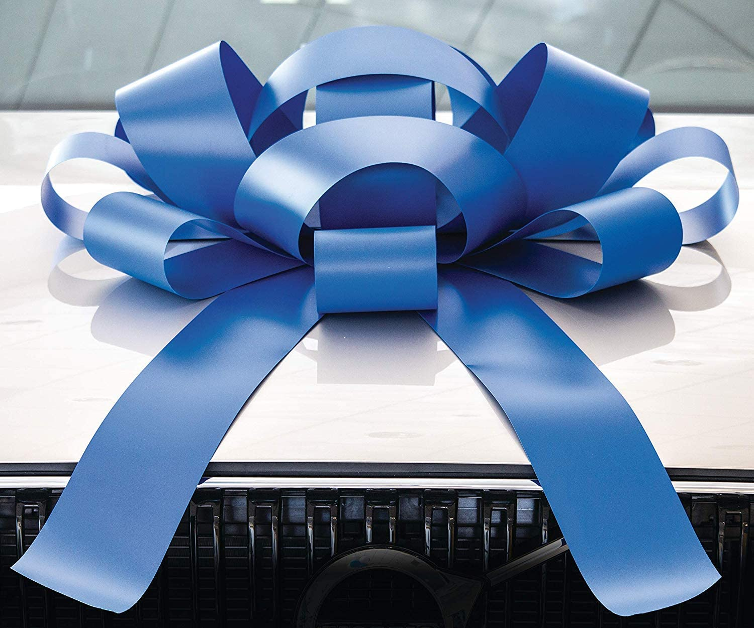 CarBowz Big Car Bow for Car Decorations and Birthday Car Gifts, Large Bow Ribbon, Magnet, Car Safe Sticker Included, Fully Assembled 30