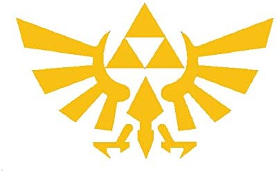 Creative Concepts Ideas Legend of Zelda Gold Yellow CCI Decal Vinyl Sticker|Cars Trucks Vans Walls Laptop|Yellow|6.0 x 3.6 in|CCI2227