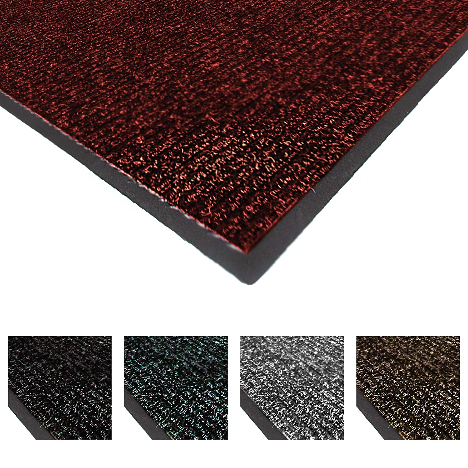 Notrax 117 Heritage Rib Entrance Mat, for Home or Office, 4' X 6' Red/Black