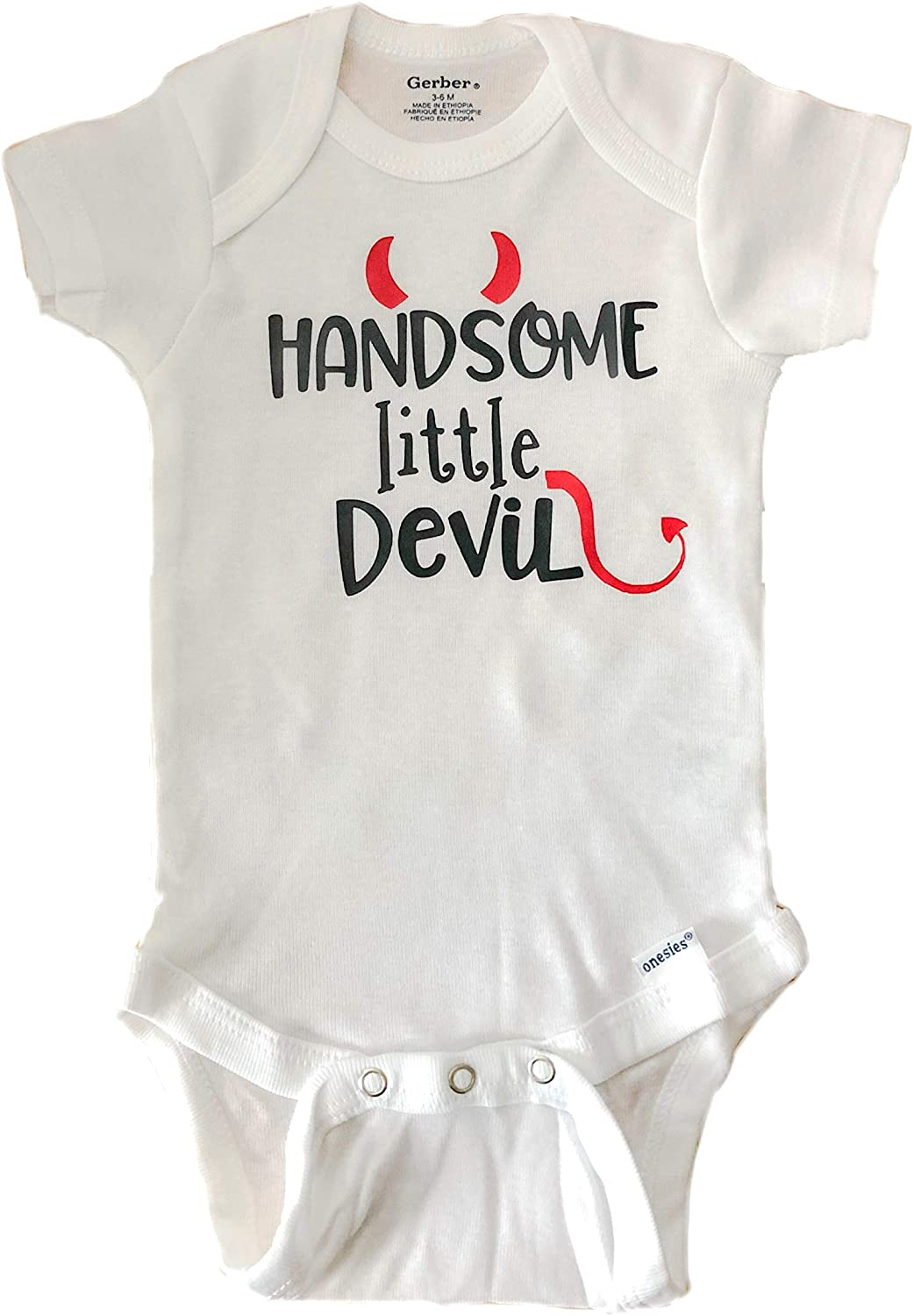Handsome Little Devil Halloween Baby Bodysuit Fall Baby Clothes First Halloween