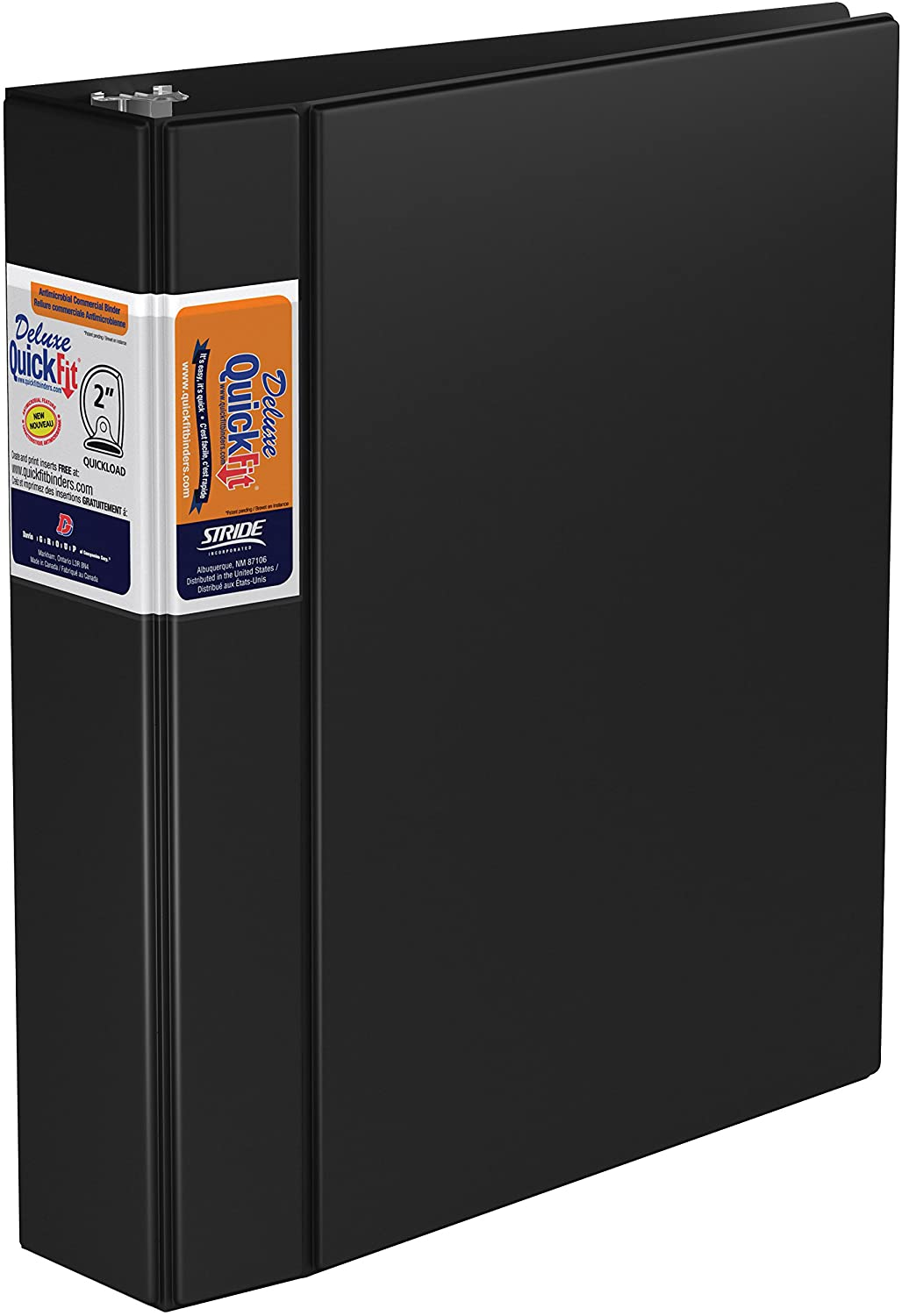 QuickFit Heavy Duty Commercial Binder, 2 Inch, D Ring, Black (29031)