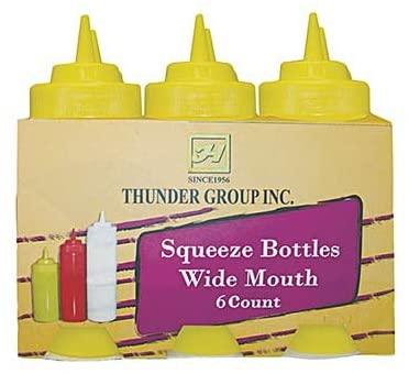 Squeeze Bottle, 24 ounce, wide mouth, plastic, clear (6 pieces/Unit)
