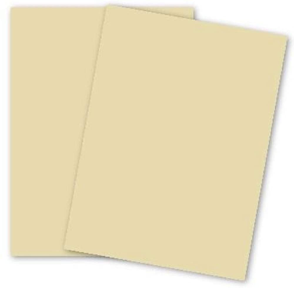 Limited Papers (TM). Color Opaque Paper, 24/60 Pound Text, (89 GSM), Laser And Inkjet Guaranteed, Variety of Colors And Sizes. (Ivory, 8.5 x 11)
