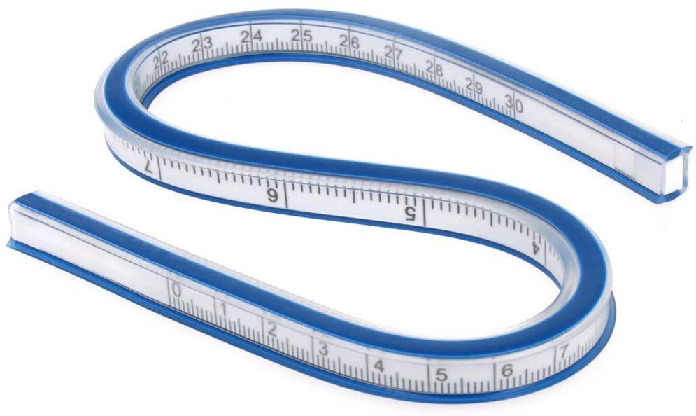Utoolmart Flexible Ruler 12 Inch 30cm Curve Ruler for Engineering Drawing Design Graphics Garment Design 1pcs