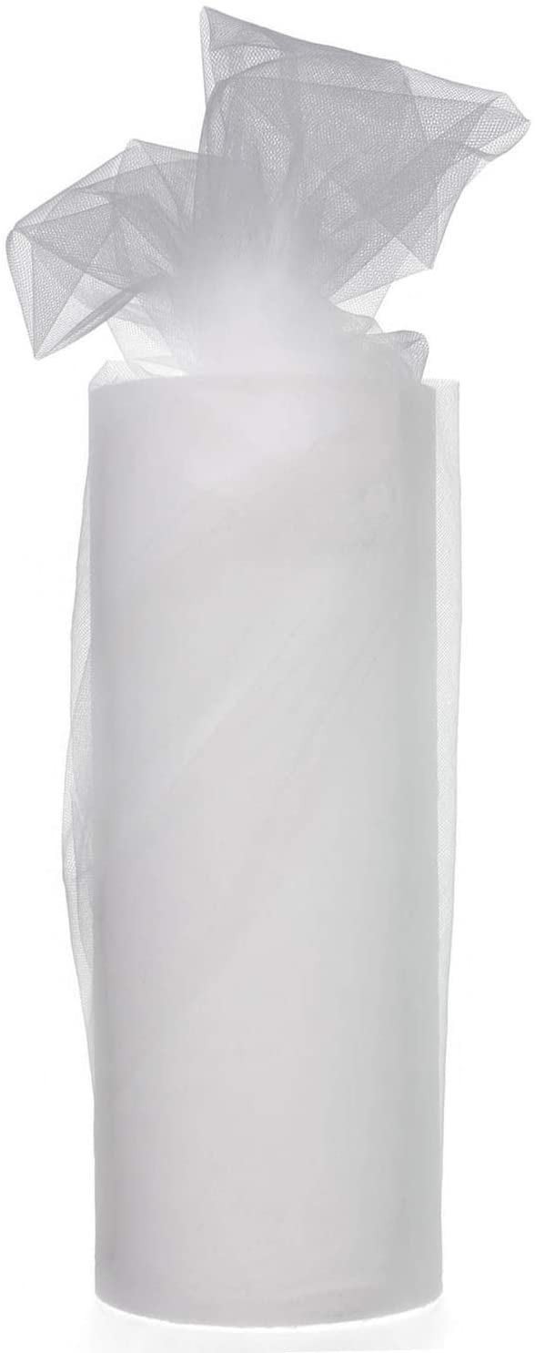 White Tulle Spool 12 Inch x 100 Yards for Tulle Decoration