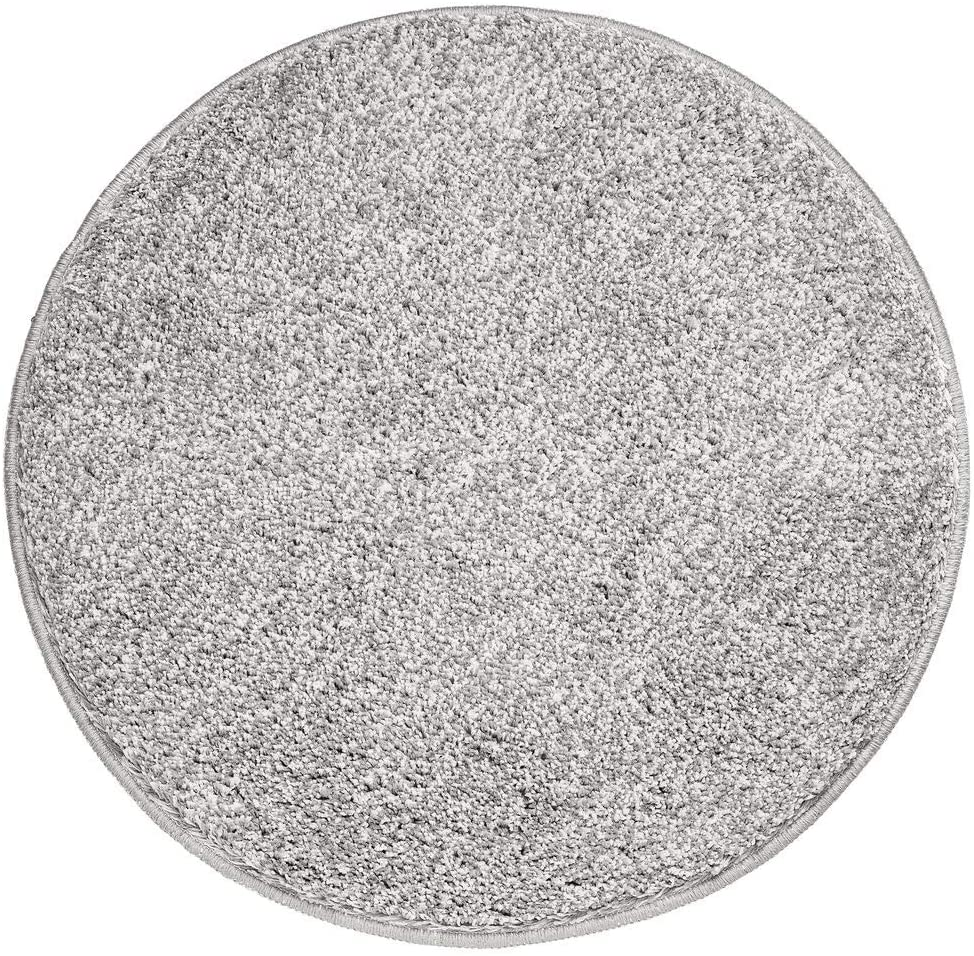 mDesign Soft Microfiber Polyester Non-Slip Round Spa Mat/Runner, Plush Water Absorbent Accent Rug for Bathroom Vanity, Bathtub/Shower, Machine Washable - 24