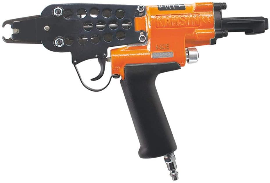 Kamsin K-SC7E 15 Gauge Pneumatic C Ring Gun, 3/4-Inch 7.0-8.0mm Closure Diameter Hog Ring Staples, Automatic Hog Ring Plier, Tool for Fencing (K-SC7E C Ring Gun)