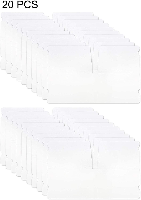 Storage Case Clip Holder Box Bag Plastic Cover Organizer Folder Portable Container Transparent 20pcs