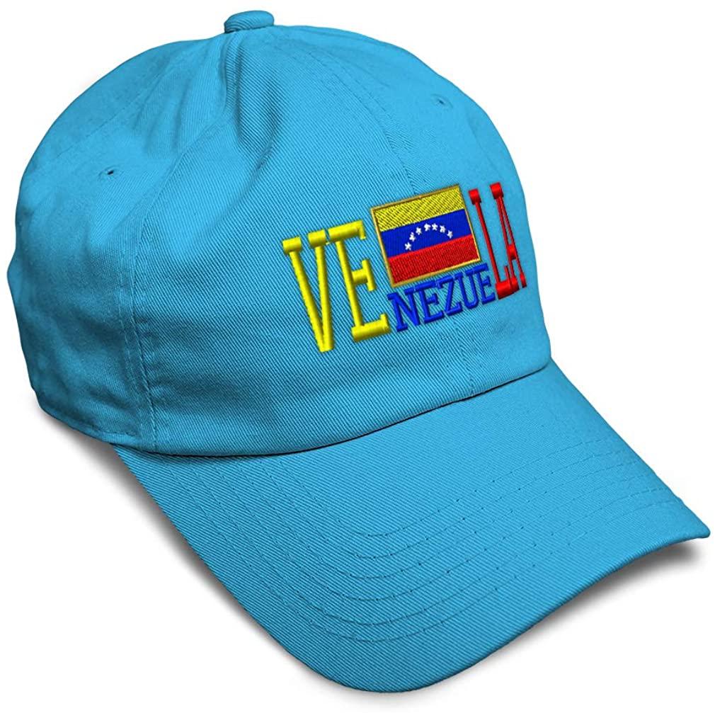 Speedy Pros Soft Baseball Cap Venezuela Country Flag Embroidery Dad Hats for Men & Women