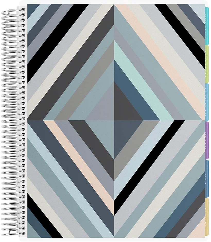 Erin Condren 12 - Month 2020-2021 Oh So Retro Neutral Teacher Lesson Planner (August 2020-July 2021) - Kaleidoscope Interior Design, 210 Pages of Planning Potential
