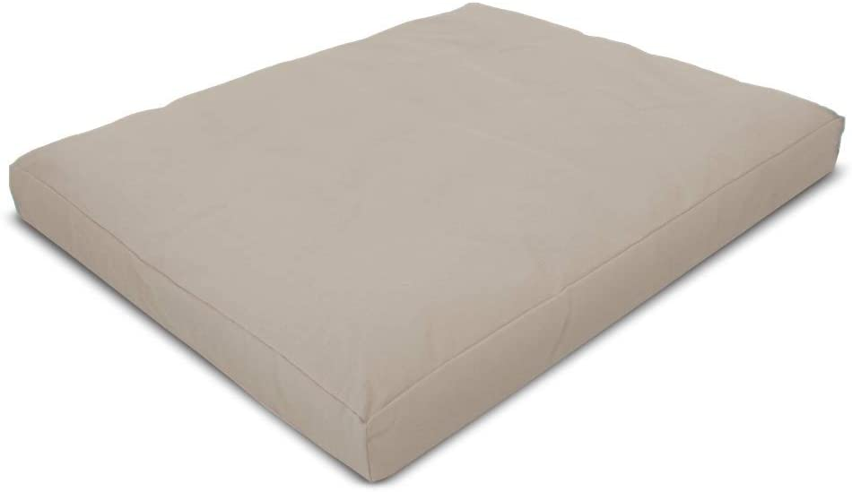 Bean Products Zabuton Meditation Cushion, Cotton - Small & Large - Handcrafted in The USA with Organic Materials - Removable Cover for Easy Cleaning