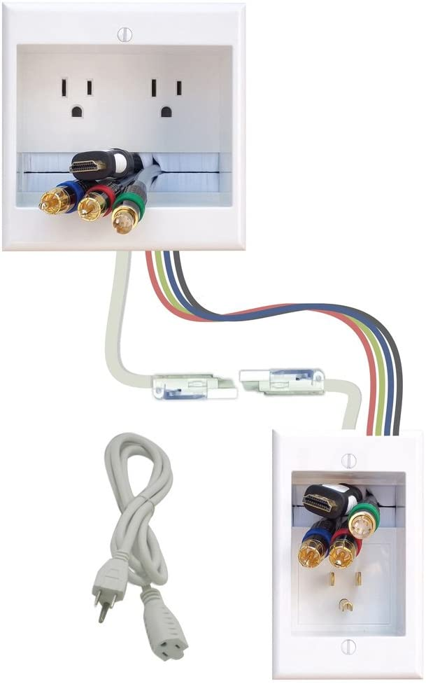 PowerBridge Solutions TWO-CK-26 Dual in-Wall Cable Management for Wall-Mount TVs, 26 PowerConnect Cable