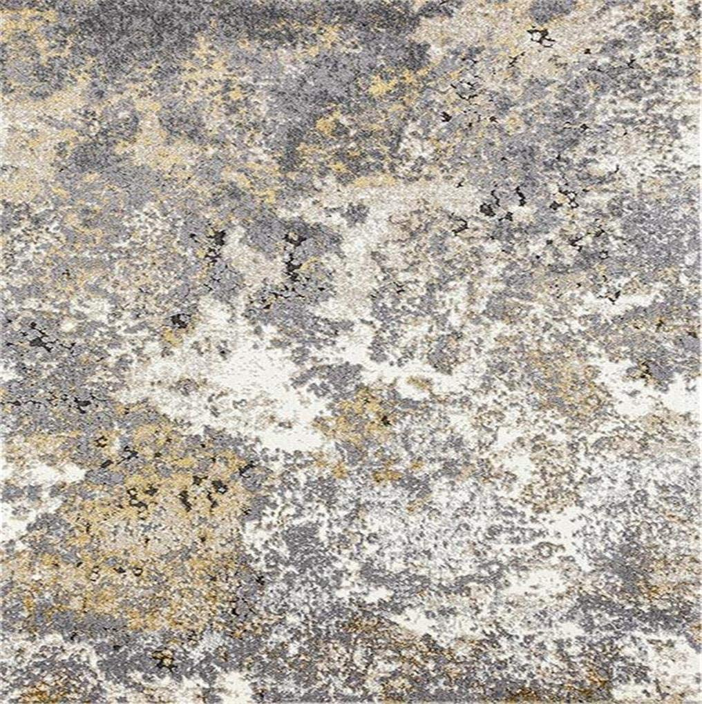 6490 Gray Abstract 6x9 Area Rug Carpet Large New