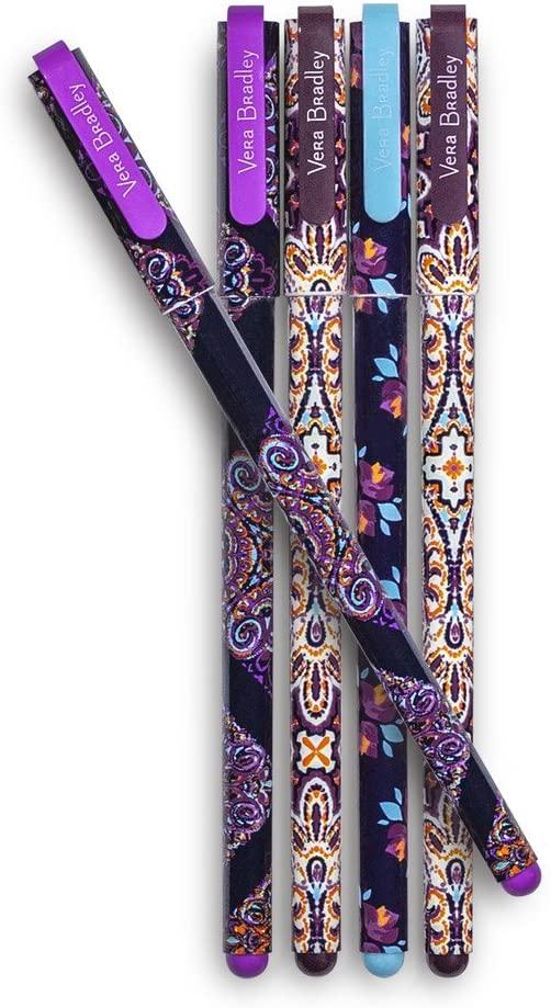 Vera Bradley Gel Pen Set of 5, Assorted Ink Colors, Dream Tapestry Multi